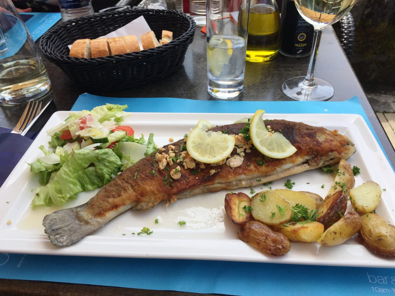 Fresh Line Fish lunch platter at Auberge de l'Our in Vianden, <em><strong>Luxembourg</strong></em>