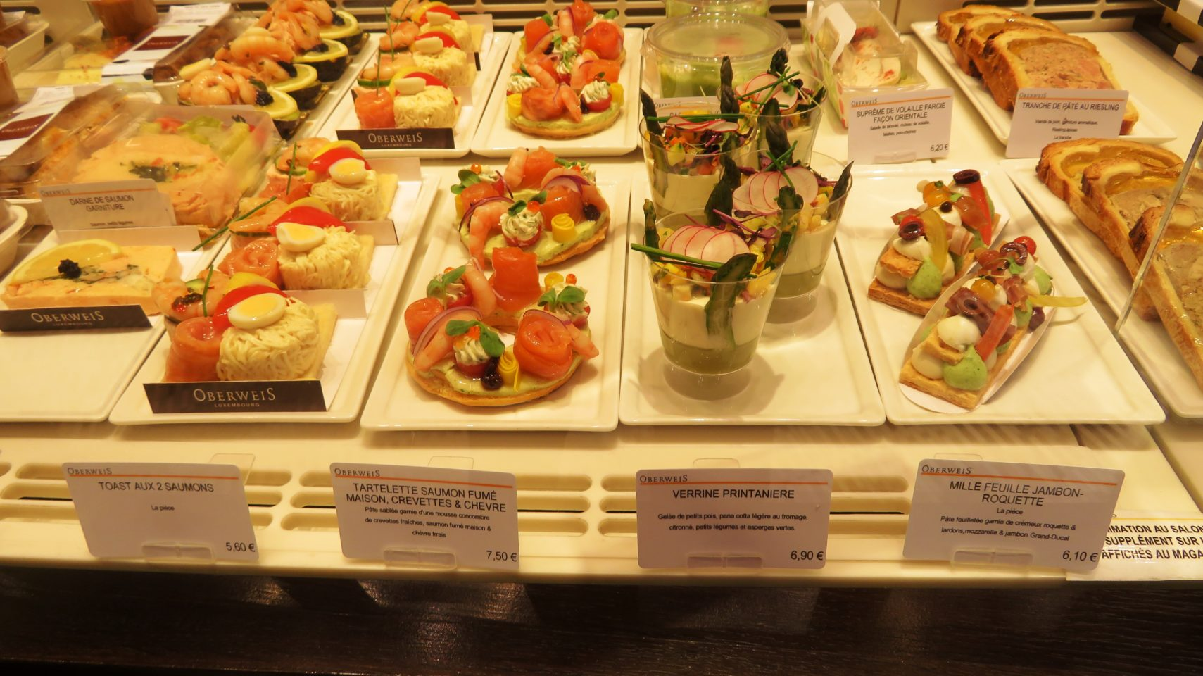 Much more than simply patisseries at Oberweis on the Grand Rue in Luxembourg City, Luxembourg
