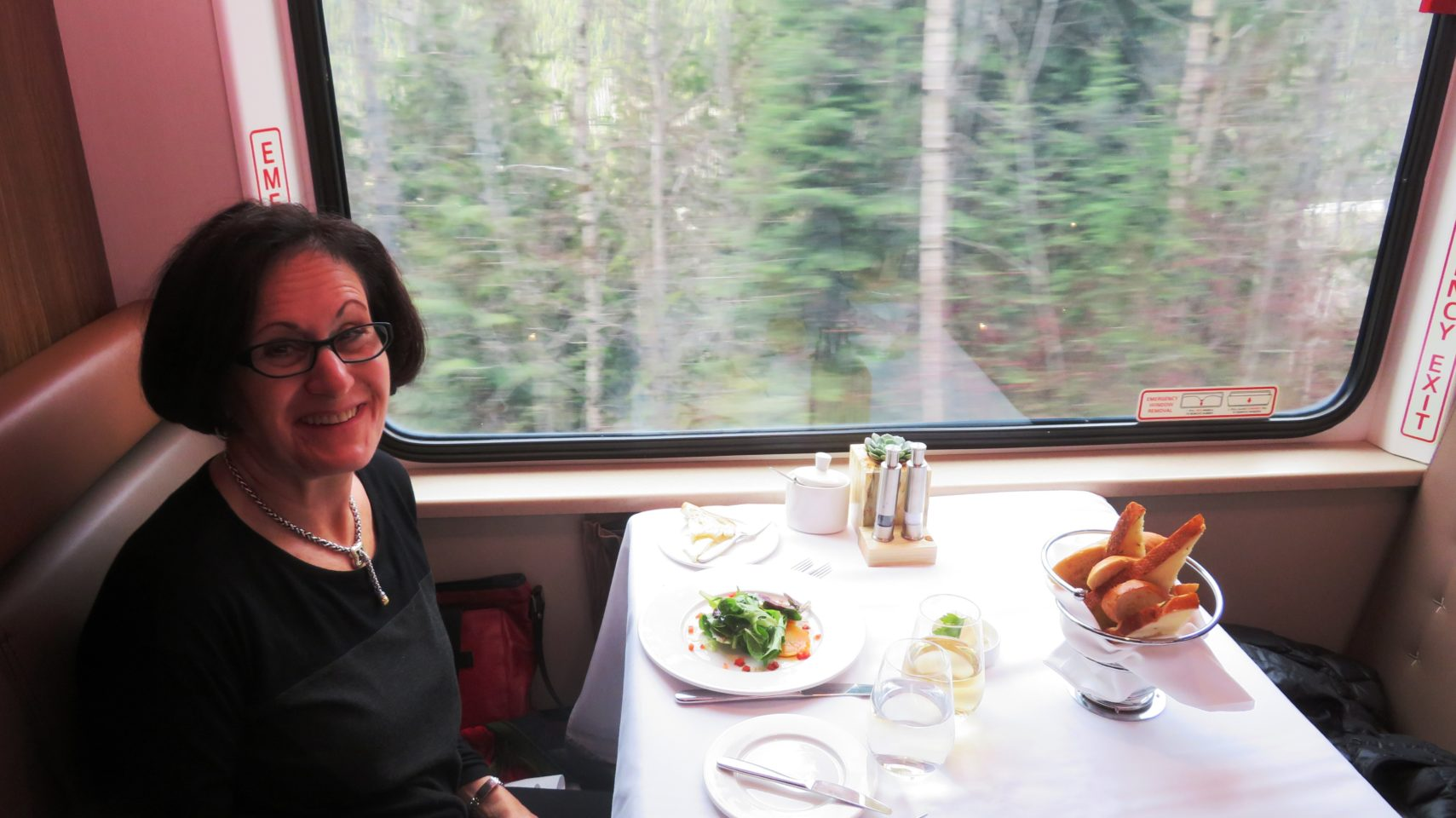 <em><strong>Rocky Mountaineer</strong></em> ~ Fresh market salad at lunch