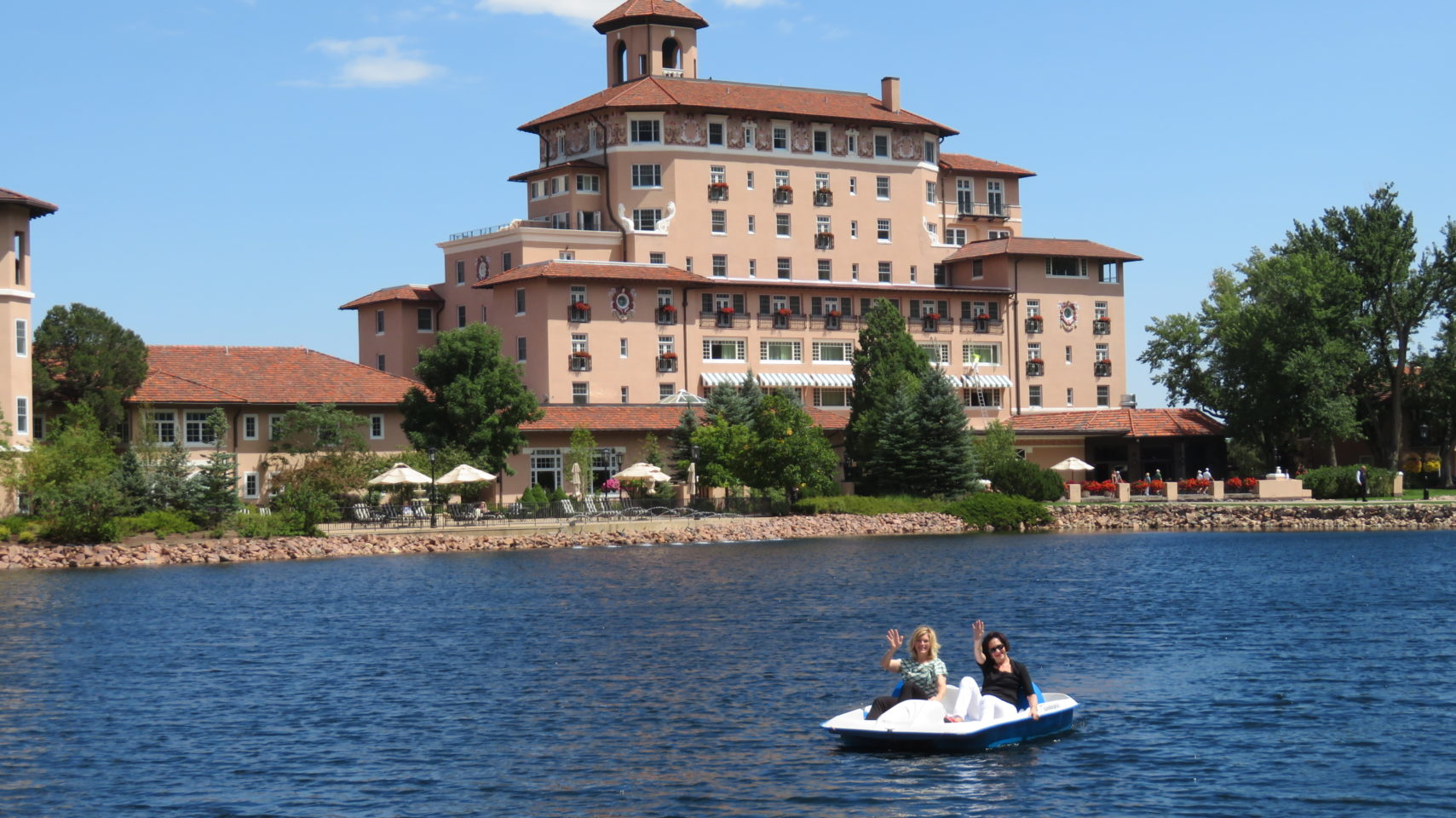 Paddle boat on Cheyenne Lake at The Broadmoor