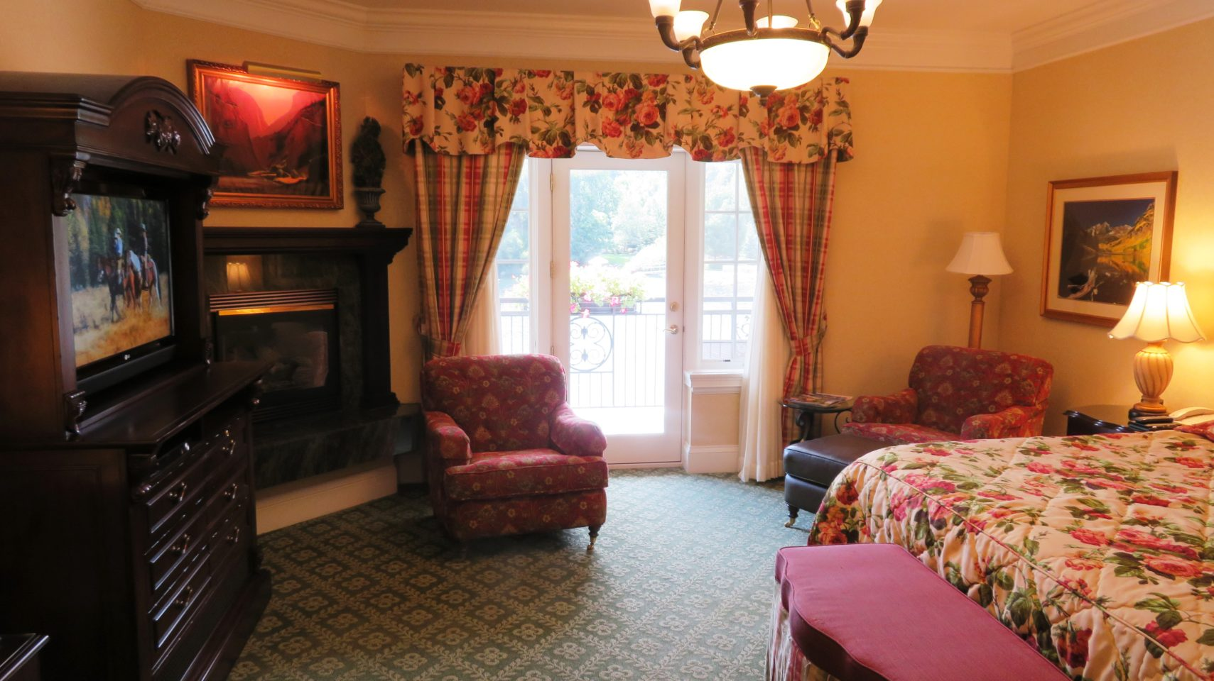 The main room of our Lakeside Suite at The Broadmoor