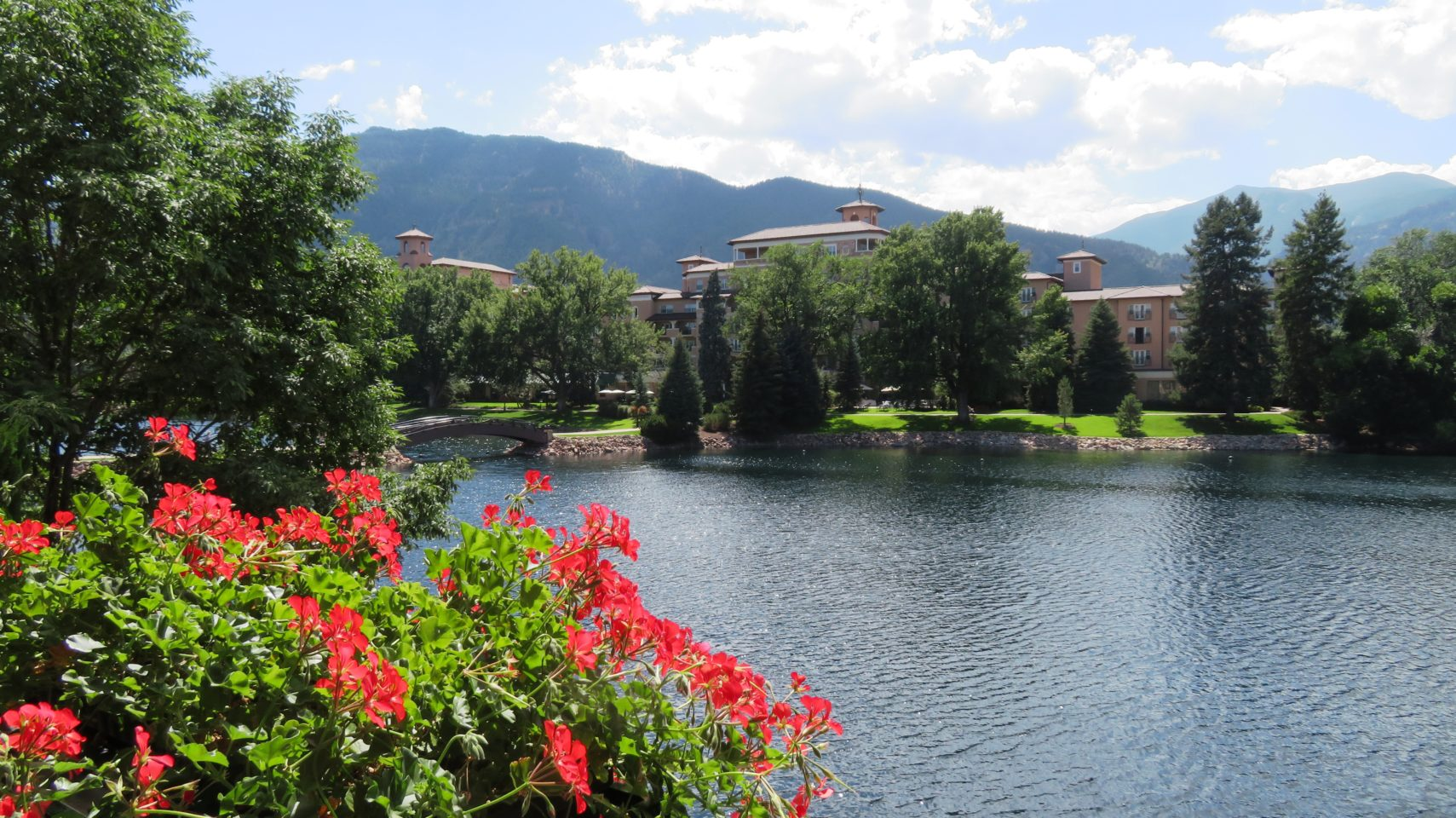 Incredibly beautiful view from the balcony of our room at The Broadmoor
