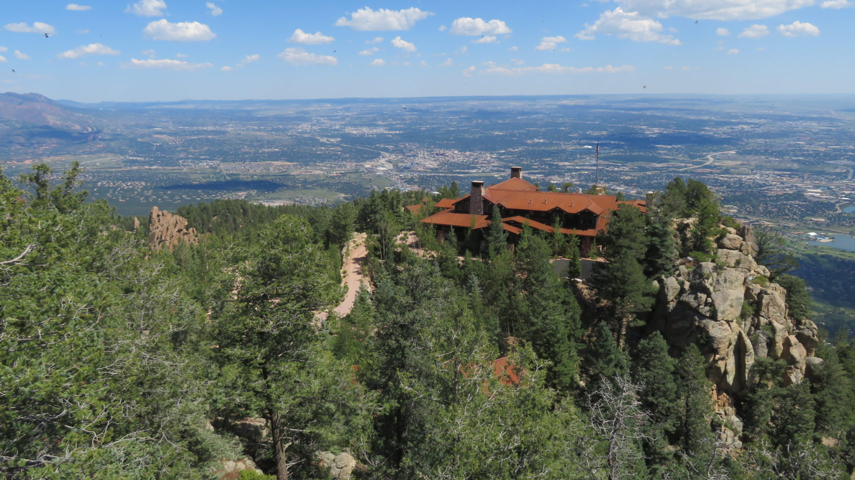 Cloud Camp, 3,000 feet above the main campus of The Broadmoor Resort & Spa