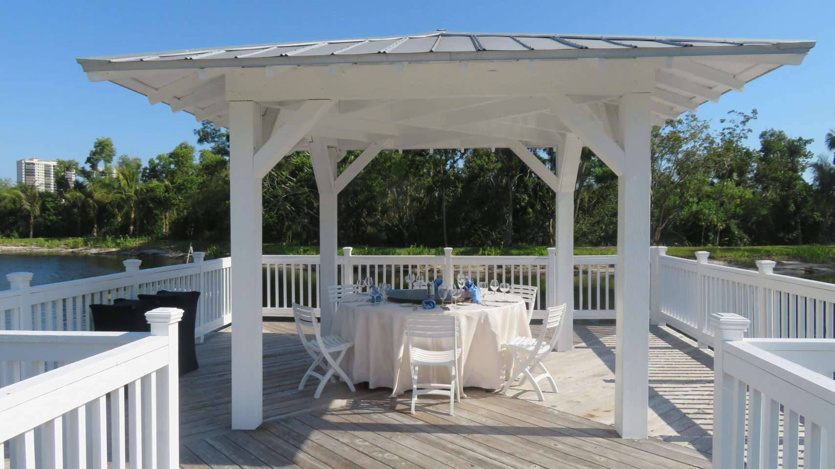 Gazebo on the private lake of the Hyatt Regency Coconut Point ~ Gem of a Florida Resort