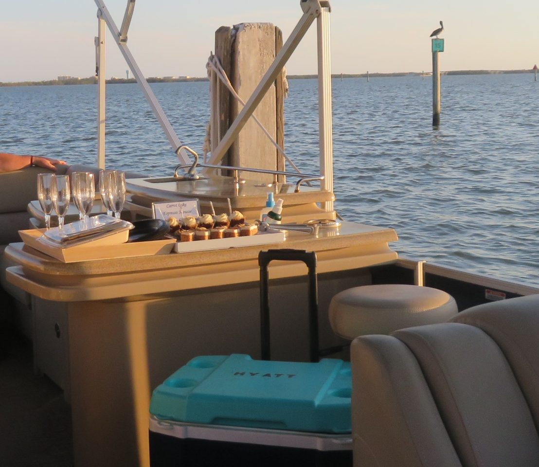 After-dinner Champagne and Dessert on the waters of Estero Bay ~ Gem of a Florida Resort