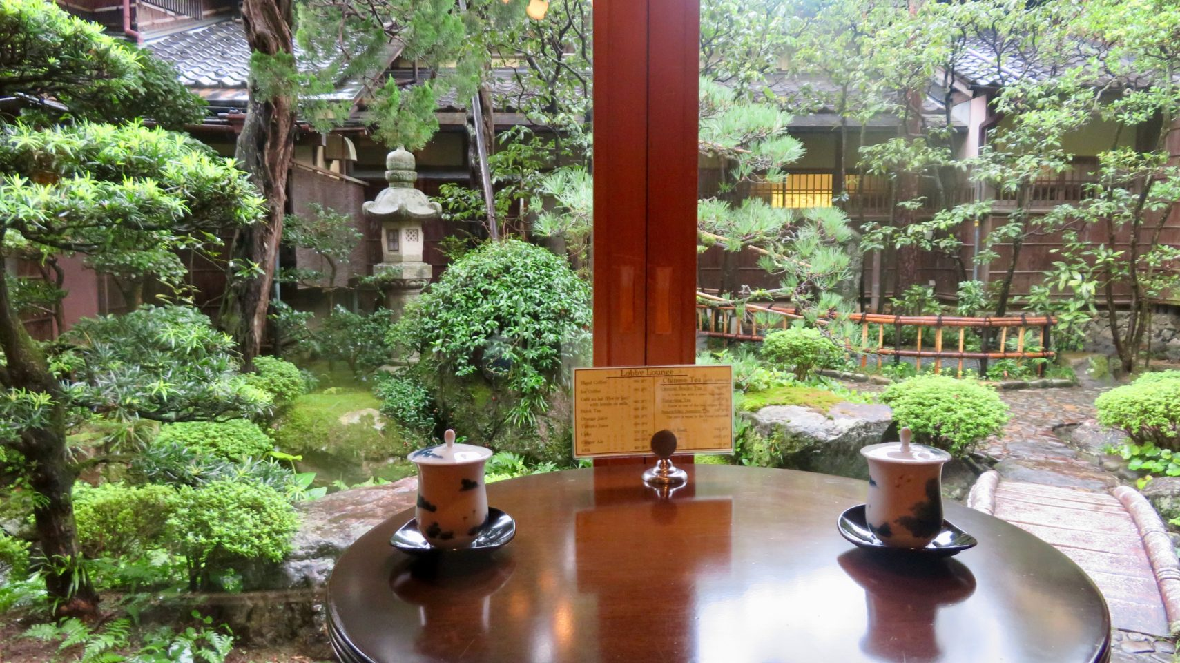 Japan Favorite Experiences ~ View of the garden at Nishimuraya Honkan ryokan