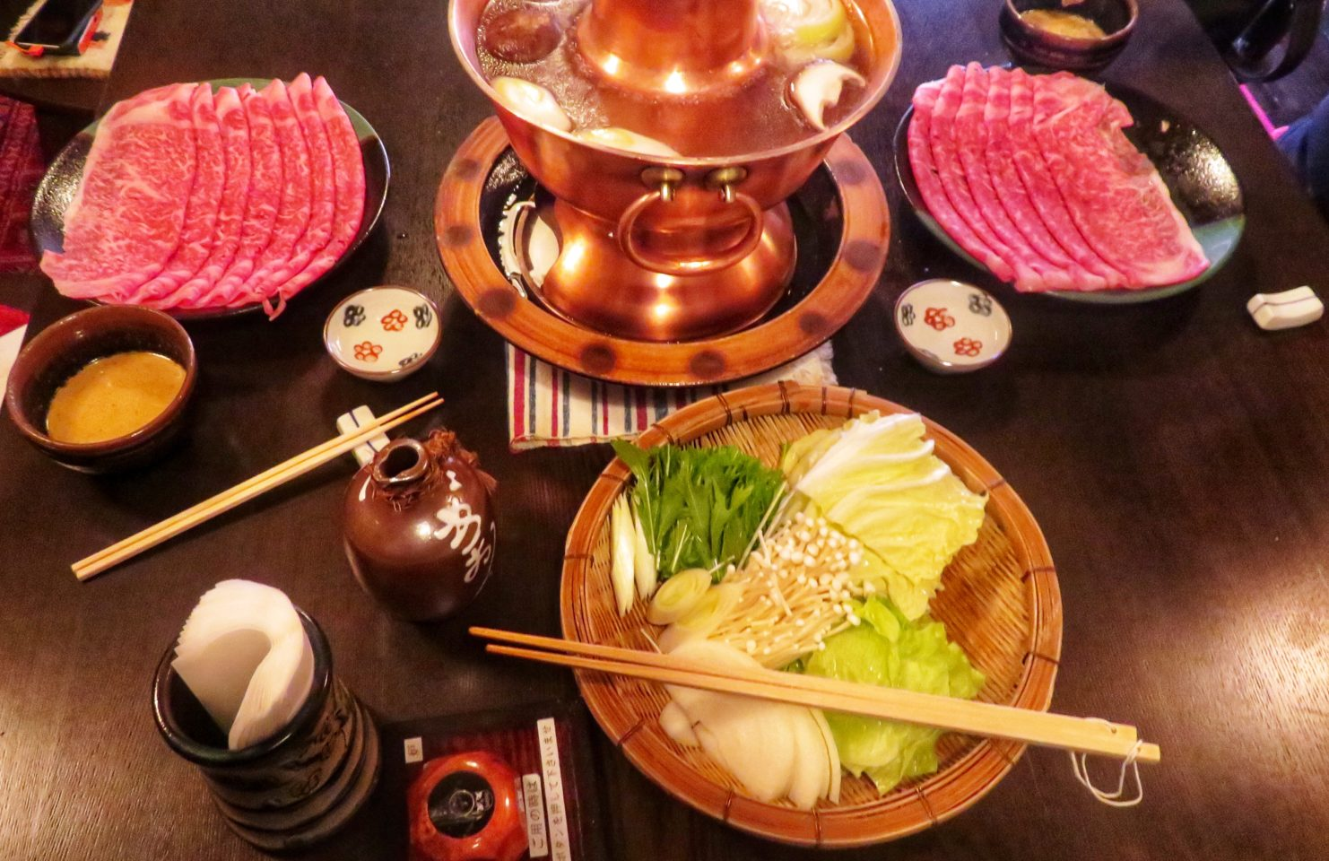 Japan Culinary Experiences ~ Shabu-Shabu at Junidanya Restaurant in Kyoto