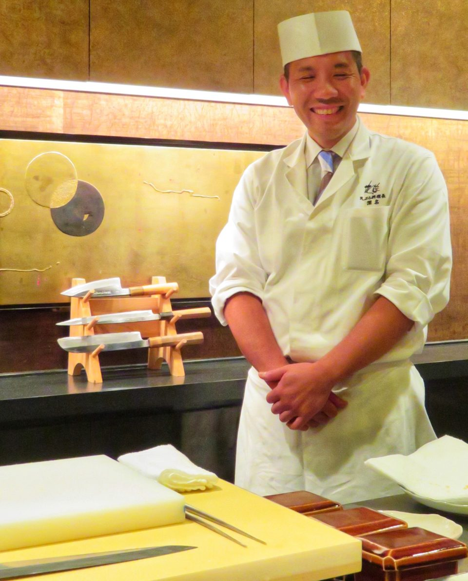 Japan Culinary Experiences ~ Tempura Chef Takeshi Fukana of the Hanagatami Restaurant at the Ritz Carlton Osaka