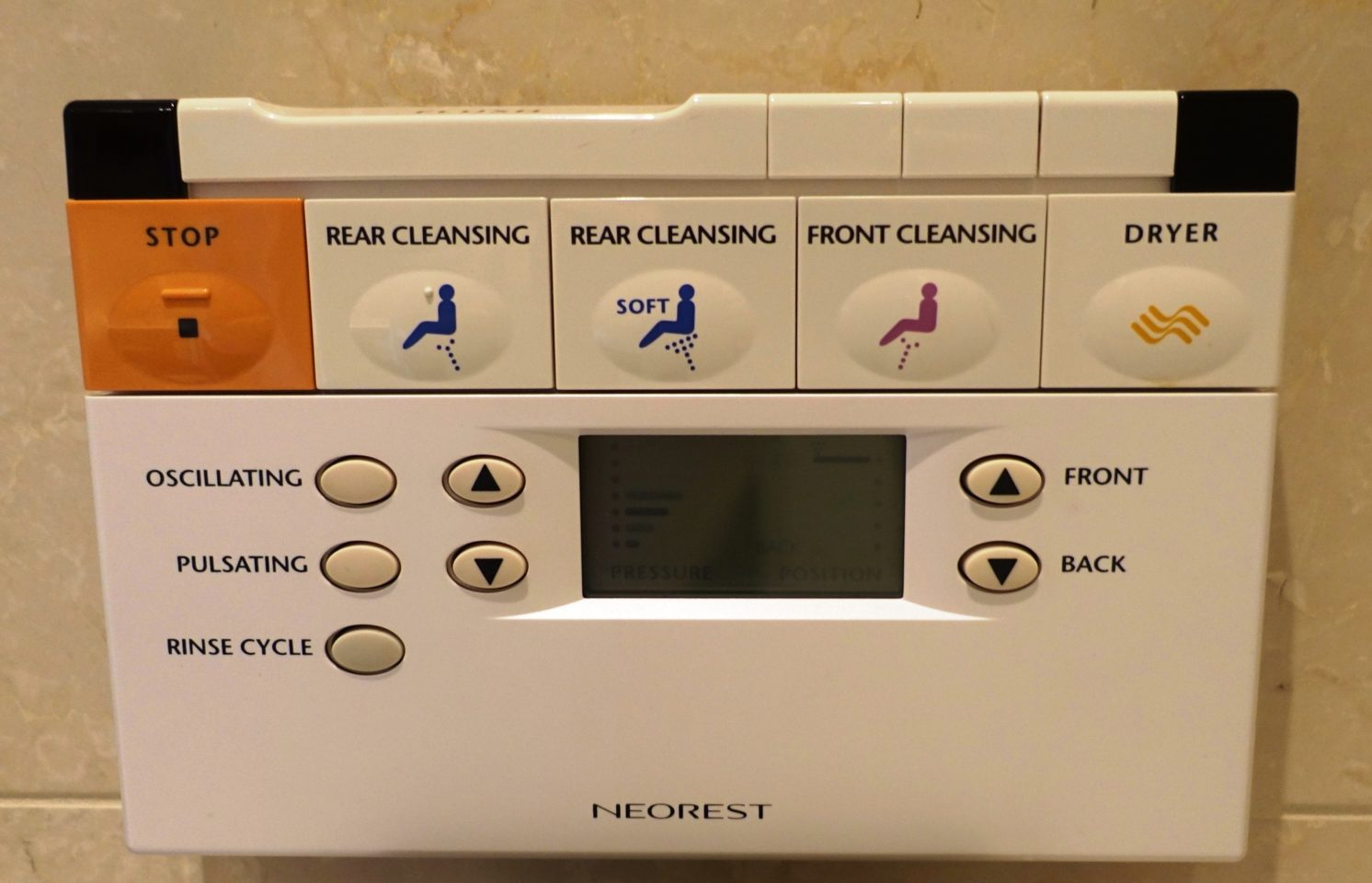 Japan Favorite Experiences ~ Wall Control for a Toto toilet offers interesting options